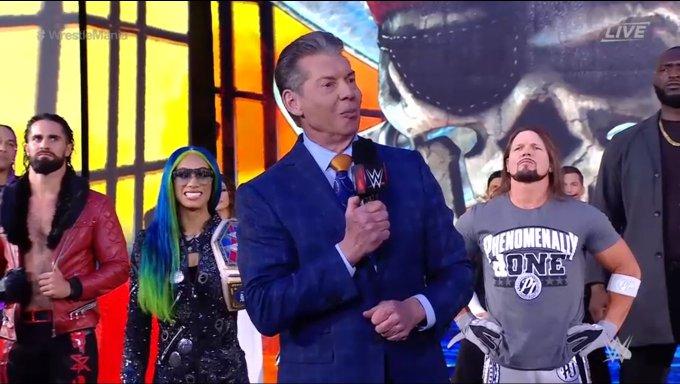 Vince open WrestleMania